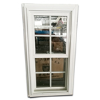 American style pvc double hung window vertical sliding UPVC window by china factory price high quality