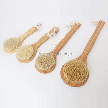 Long Wooden Handle Bristle Hair Massage Brush Bath Cleaning Brush - Buy  Wooden Handle Bath Brush,Massage Bath Brush,Bath Cleaning Brush Product on