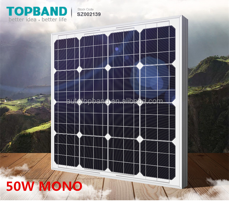 Best price small portable solar panel 50w Solar panel monocrystalline silicon solar cell