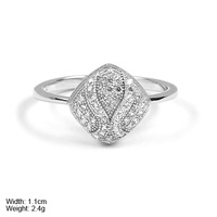RZQ-0016 high quality silver jewelry diamond shape ring design