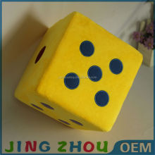 Hot sell toys stuffed plush custom Vintage Parts different Funny color Dice toy