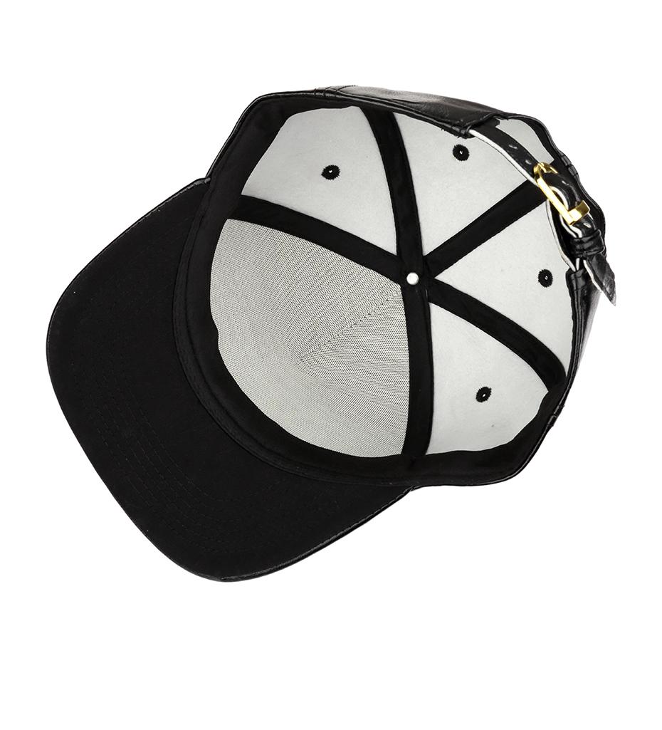 NYUK Crystal Rhinestone Gold Christ Jesus Baseball Cap Black Leather  Adjustable Mens Casual Unisex Snapback Hat Cool Boy Hip Hop - us776 89557d8082c