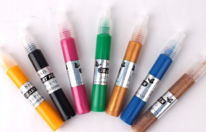 12 Color 3d Diy Drawing Paint Painting Pen Nail Art Tips Design Uv ...