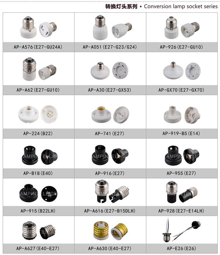 Led Bulb Holder Electric Ceiling Light Bulb Socket Plastic E27 ...