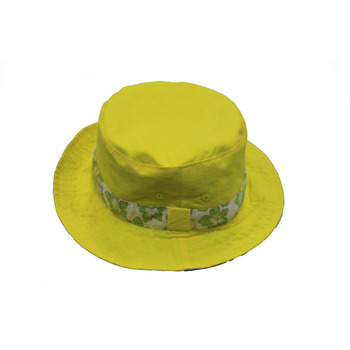 18d5eafb53b Ladies Womens Printed Yellow Flower Floral Caps Hats Designer Custom Bucket  Hat