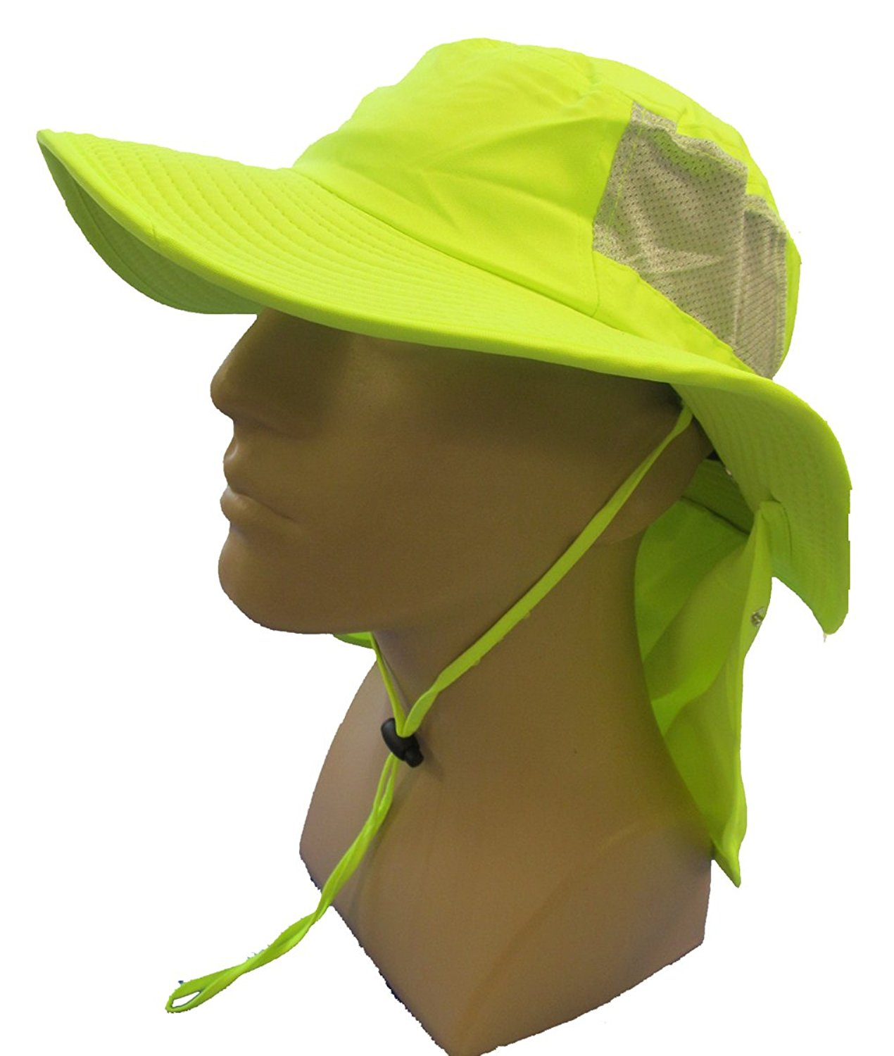 a19474d6cec5b Get Quotations · Tuff   Dry Wicking   Cooling Hi Viz Yellow Ranger Hat With  Neck Shade - TD500