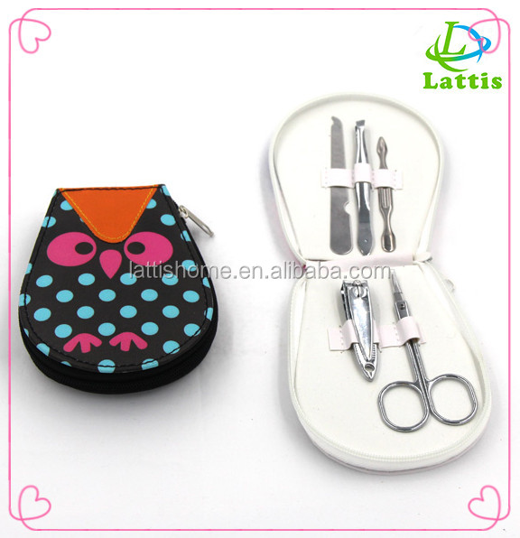 High Quality Cheap Sewing Professional Manicure Set with Exquisite Handle Use Leather Case