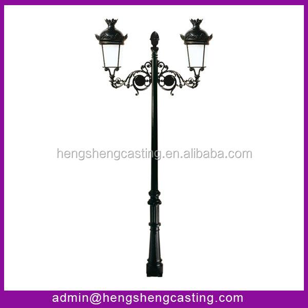 Hot Sale Cast Iron Garden Lighting Pole Light From Hengsheng Manufacture