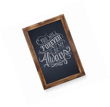 Wall Rustic Torched Wood Magnetic Wall Chalkboard
