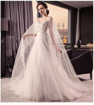 0151c9e82 Bajo Precio blanco Sexy desmontable cola de suelo tocar un línea vestido de  boda