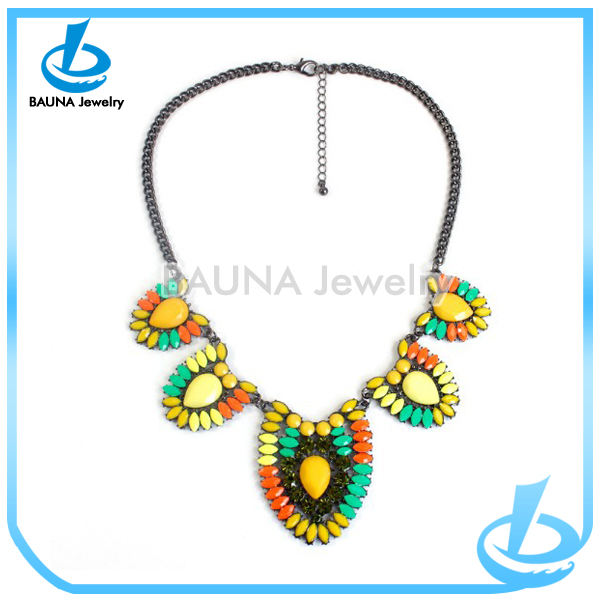 Indian Jewelry Type Colorful Beads Choker Antique Chain Acrylic ...