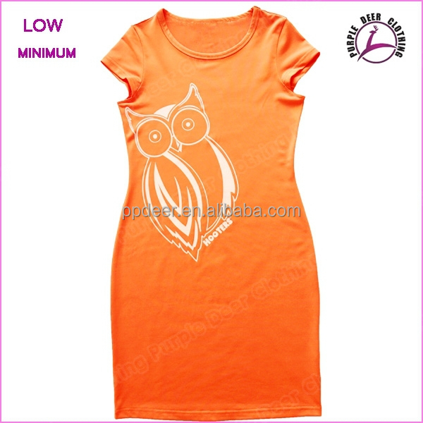 Ladies' high quality lycra short frock dress slim fit print dresses