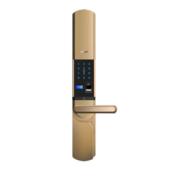 Smart glass door lock fingerprint with factory price, OEM/ODM intelligent fingerprint lock