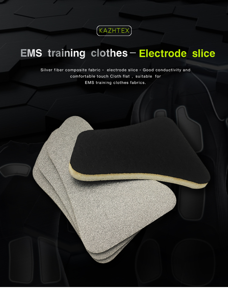 Different shape ems clothing accessories conductive electrode pad for ems anzug