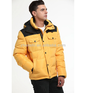 High Quality Yellow Man Quilted Ultra Light Down Jacket