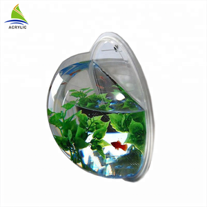 Hot Sale Wall mount Fashion Home Decoration Small Clear Bowl Aquarium Fish Tank
