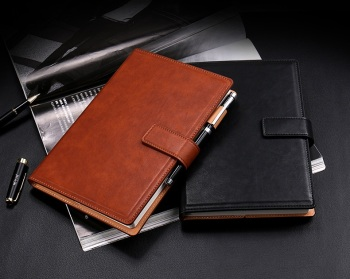 Custom Leather Cover B5 / A5 Paperback Diary For Corporate Gift Notebook