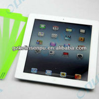 green colored printing screen protectors for i PAD 2/3/4, colored printing screen guard