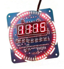 DS1302 rotating LED display temperature alarm digital clock module
