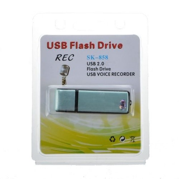 8gb long battery life Voice Active Sound Audio Recorder Portable usb drive spy hidden mini voice recorder