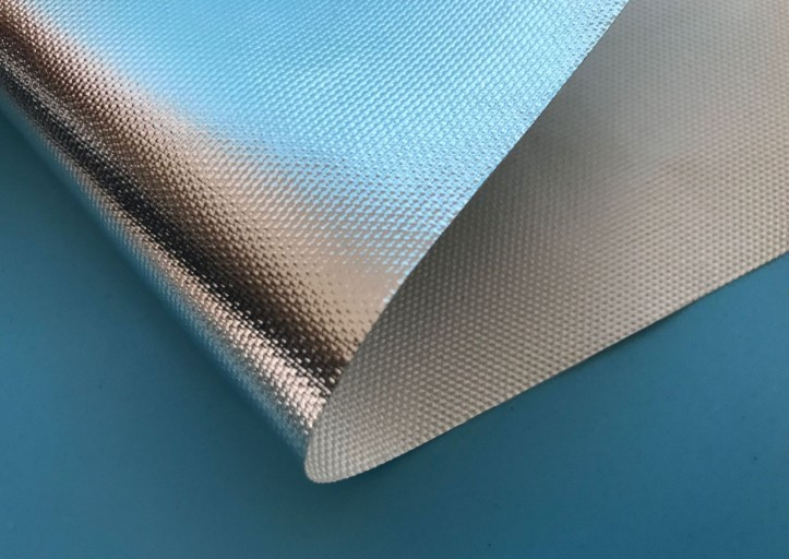 450g 600g 800g  Aluminum Fiberglass Cloth 1m 1.2m for heat insulation fireproof waterproof from China ROCKPRO factory