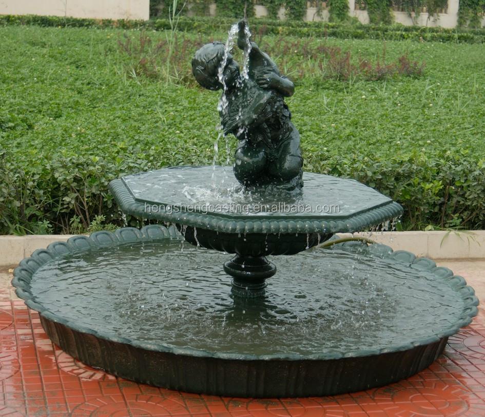 clases de jardn fuente de agua fuente de agua de resina hierro fundido fuente