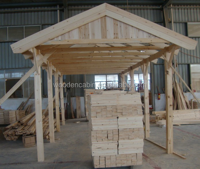 Car Ports For Sale: Cheap Price Prefab Wooden Carport/2 Car Wooden Carport For