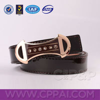 Innovative metal rhinestone buckles down skinny waist women dress belt