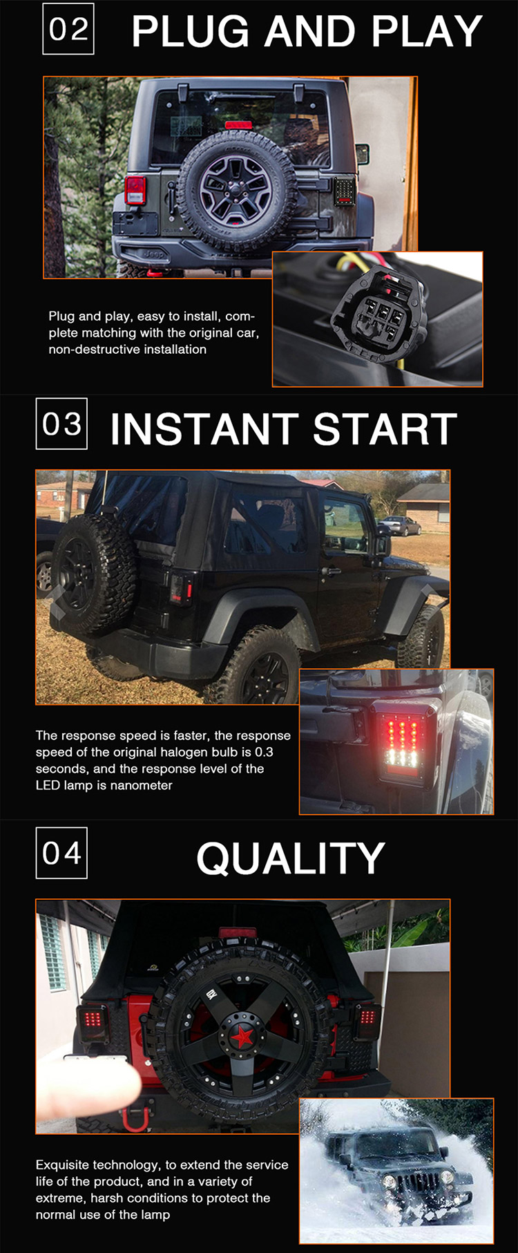 Super Cheap Stop Licence Truck Jeep Trailer Lightswholesale Yj Tj Wrangler Reverse Lights Hot And Related Items