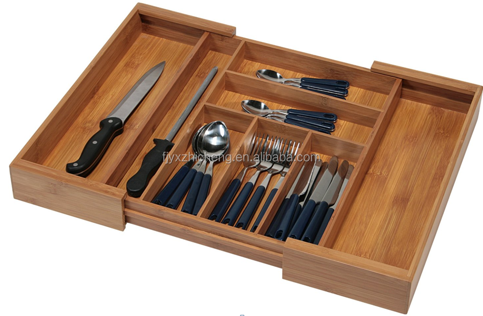 Bamboo Expandable Cutlery Drawer Organizer Cheap Bamboo Expandable Utility Drawer Organizer for Cutlery