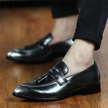 Свадебные туфли; Мужские Элегантные модельные туфли; классические итальянские брендовые строгие кожаные туфли для мужчин; sepatu; слипоны pria ...(China)