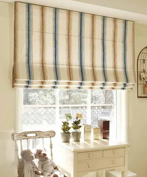 China new style blackout jacquard roman blinds for decoration