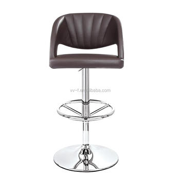 brown faux leather color high back bar stool