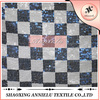 High quality plaid sequin embroidered fabric wholesale--White and Blue