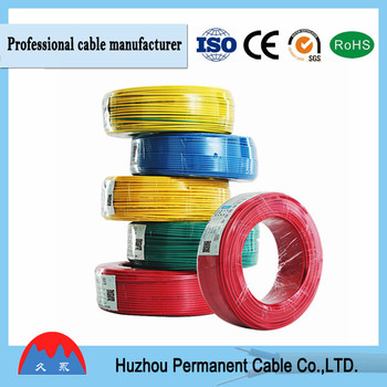 Colored Electrical Pure Cooper Single Cable For Residential ...