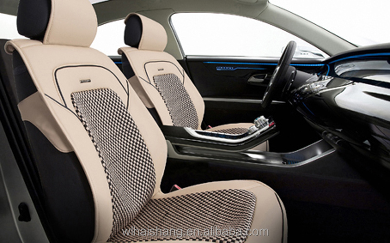 Wellfit Sponge Cold Silk With Leather Car Seat Cover Car Seat Cushion Summer  Cool Car Seat