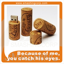 Promotional gifts wooden wine cork usb flash drive 4gb ,bottle stopper usb 2.0