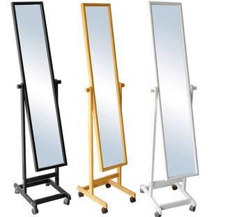Living Room Pine Furniture Standing Mirror Wheels - Buy Standing ...