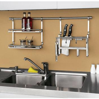 High Quality Stainless Steel Kitchen Cabinet Utensils Hanger
