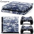 Blue Camouflage Camo Vinyl PVC Skins Sticker For PS 4 Console For palystation4 Console Controller Decal