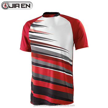 b876ba5e7d4 Wholesale custom sublimated fashion black and red soccer jersey without  brand