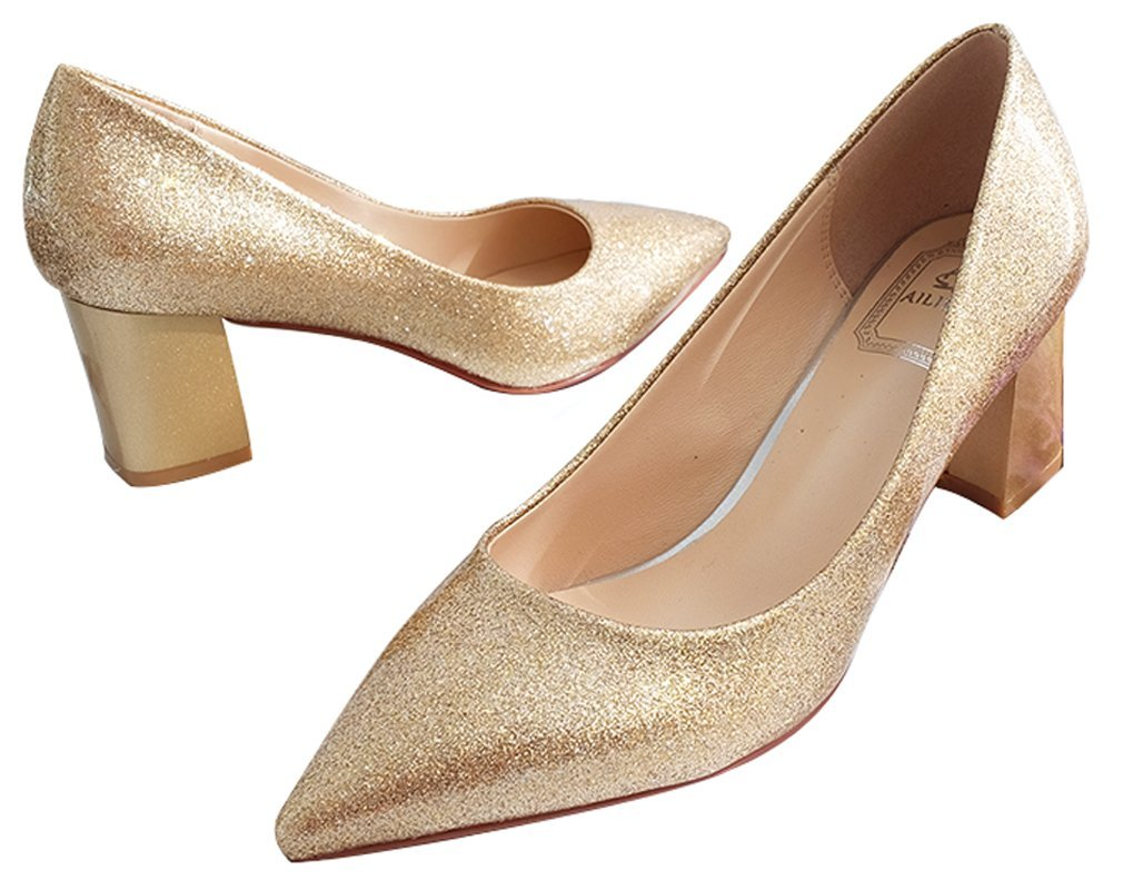 Wedding Shoes Bridal Shoes Bling Princess Shoes Golden