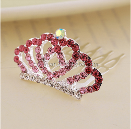 High quality colored rhinestone tiaras for party princess accessory Passed new European standard