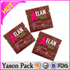 Yason texture/channelled microwave plastic bag laminated plastic doypack gift wrap plastic bags