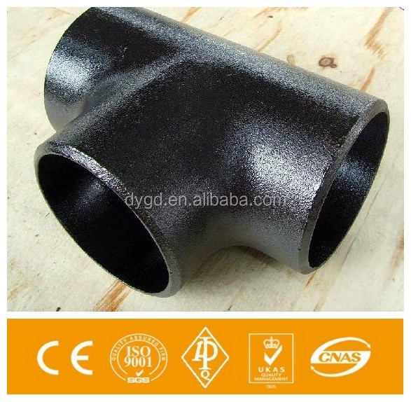 API 5L M.S & pipe fittings carbon steel ERW /seamless equal tee ASTM A234 WPB made in china