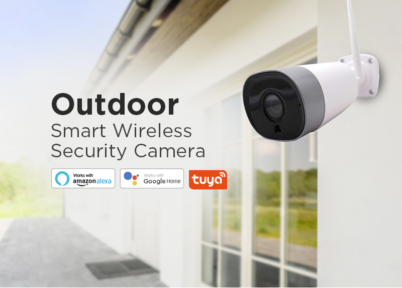 2019 factory price  outdoor wifi ip camera support google home and Alexa