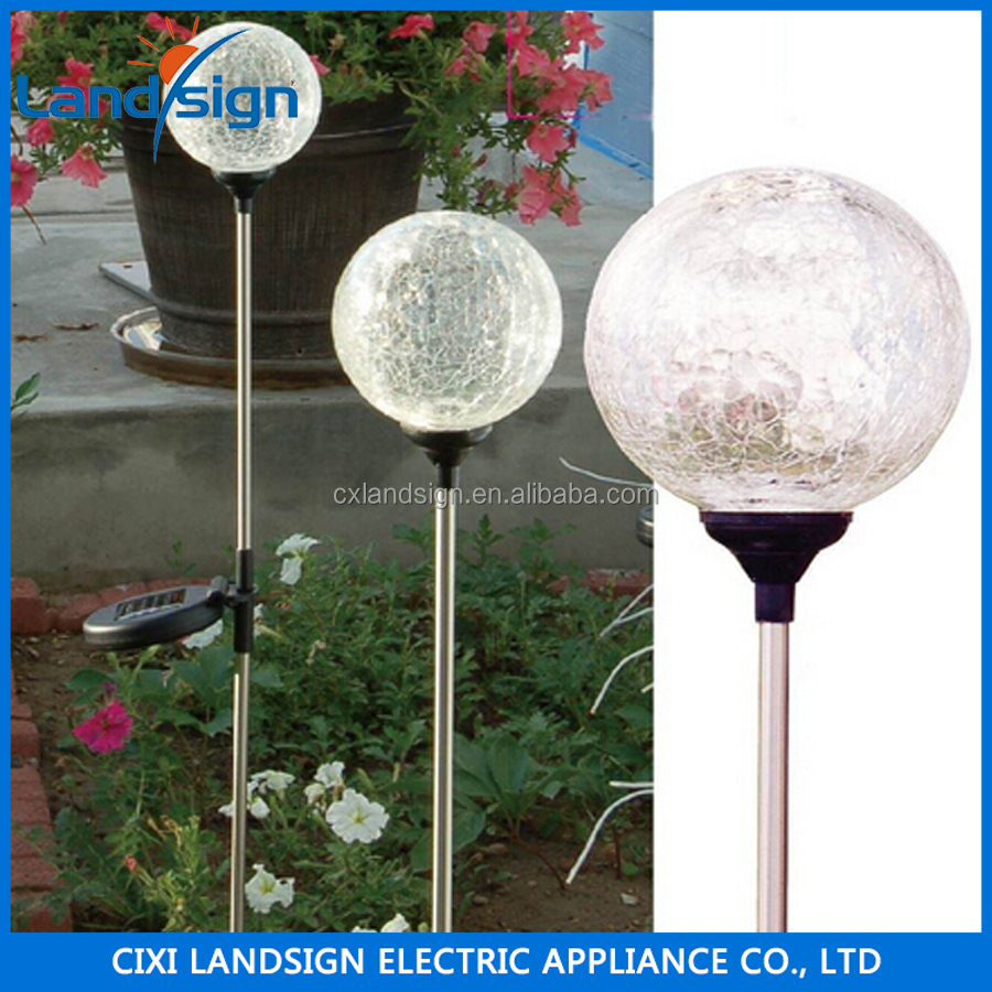 NINGBO Seller Magic Glass Ball LightSolar LED Light XLTD-734 Solar Garden Outdoor Light
