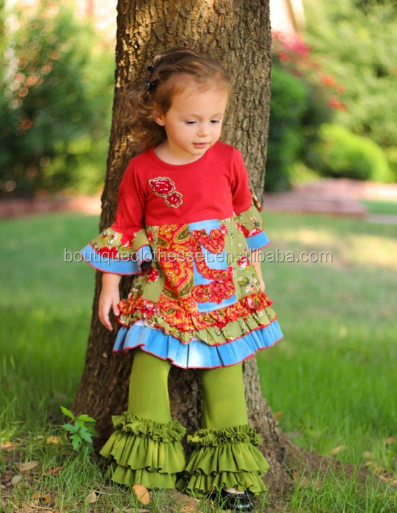 Toddler Girl Boutique Outfits Kids Winter 2015 Christmas Clothing ...