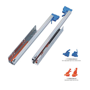 High Quality 2-fold Undermount Self Locking Slide Rails Track Furniture  Accessories Drawer Slides - Buy Telescopic Drawer Slides,Replacement Drawer