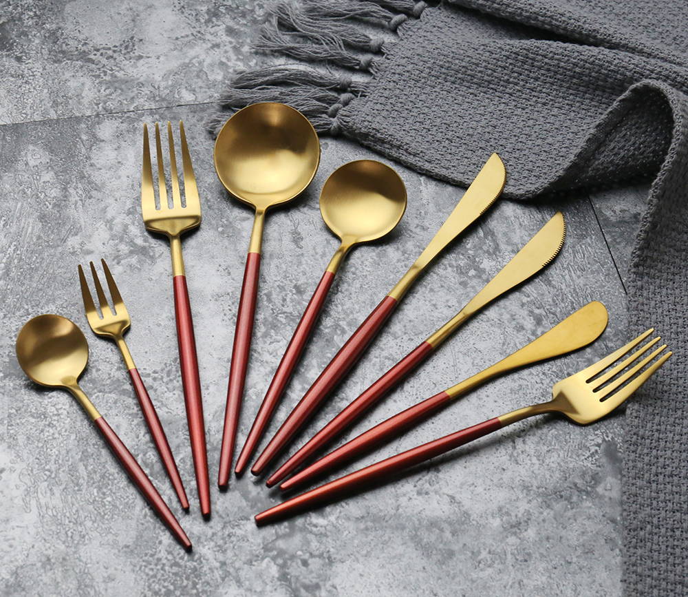 304 stainless steel cutlery  Manufacture High Quality 4 Pieces of Set for  Wedding Dinnerware